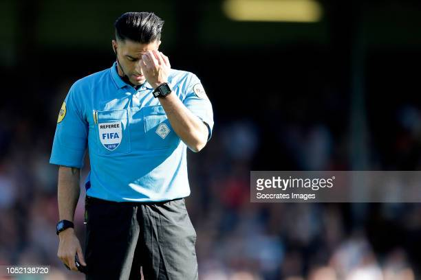 referee Serdar Gozubuyuk during the Dutch Keuken Kampioen Divisie match between Go Ahead Eagles v Roda JC at the De Adelaarshorst on October 14 2018...