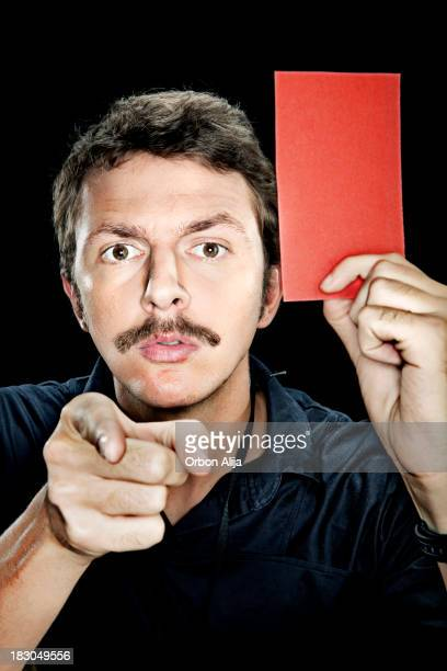 referee showing red card - red card stock pictures, royalty-free photos & images