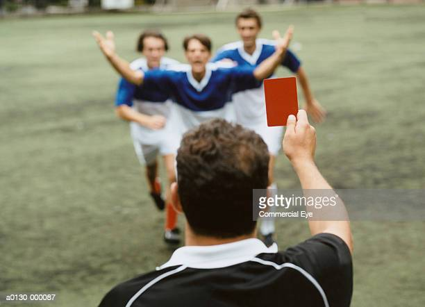 referee showing red card - referee stock pictures, royalty-free photos & images