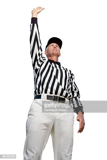 referee signaling dead ball - american football referee stock pictures, royalty-free photos & images