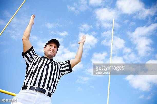referee signals for touchdown - american football judge stock pictures, royalty-free photos & images