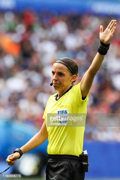 Referee Stephanie Frappart ain action during the 2019 FIFA Women's World Cup France Final match between The United State of America and The...