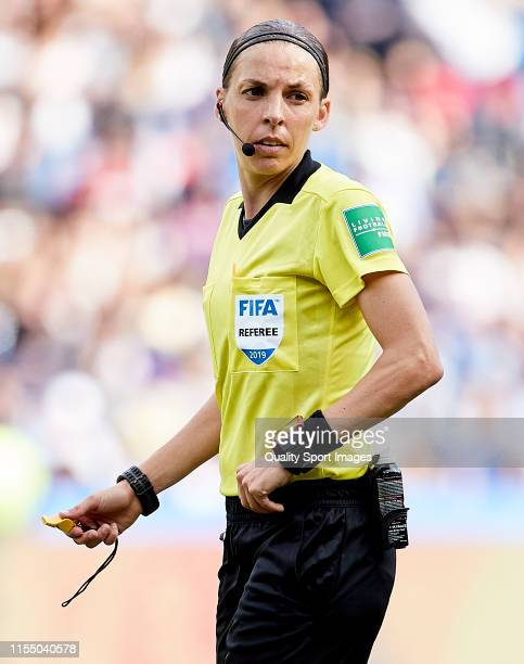 Referee Stephanie Frappart during the 2019 FIFA Women's World Cup France group D match between Argentina and Japan at Parc des Princes on June 10...