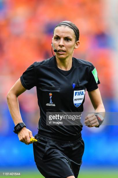 referee Stephanie Frappart during the FIFA Women's World Cup France 2019 group E match between The Netherlands and Canada at Stade AugusteDelaune on...