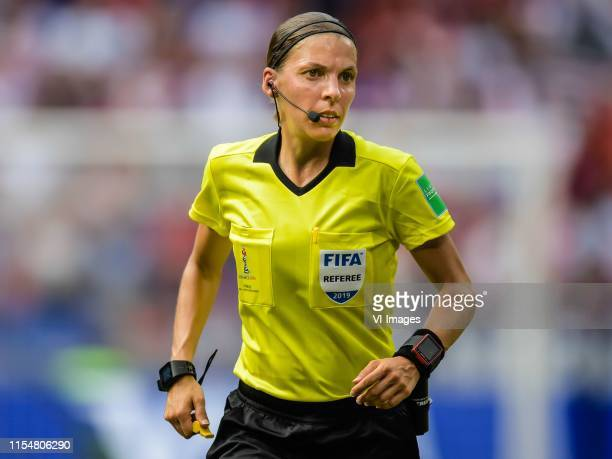 referee Stephanie Frappart during the FIFA Women's World Cup France 2019 final match between United States of America and The Netherlands at Stade de...