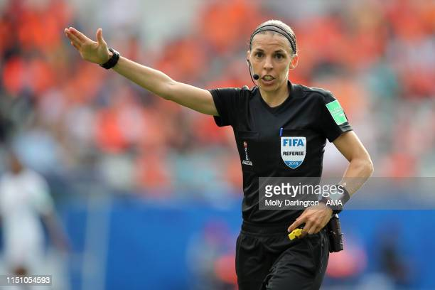 Referee Stephanie Frappart of France during the 2019 FIFA Women's World Cup France group E match between Netherlands and Canada at Stade Auguste...