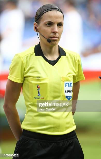 Referee Stephanie Frappart of France during the 2019 FIFA Women's World Cup France group D match between Argentina and Japan at Parc des Princes...