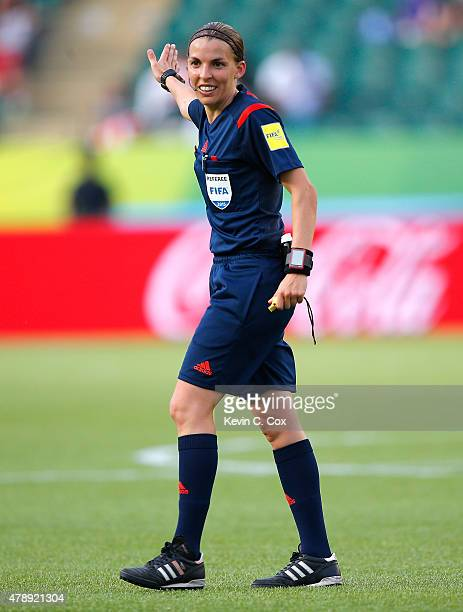 Referee Stephanie Frappart of France in action during the FIFA Women's World Cup Canada 2015 Round of 16 match between the United States of America...