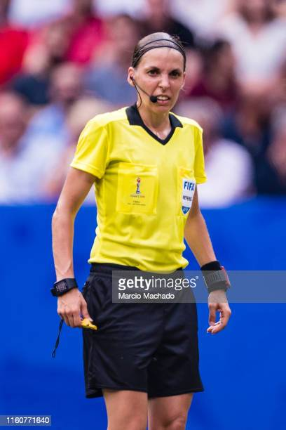 Referee Stéphanie Frappart of France during the 2019 FIFA Women's World Cup France Final match between The United States of America and The...