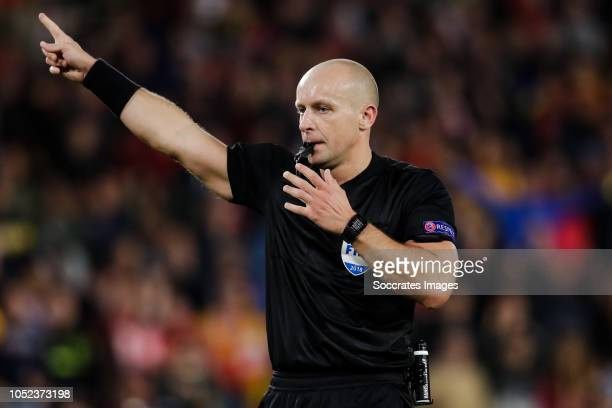 Referee Szymon Marciniak during the UEFA Nations league match between Spain v England at the Estadio Benito Villamarin on October 15, 2018 in Sevilla...