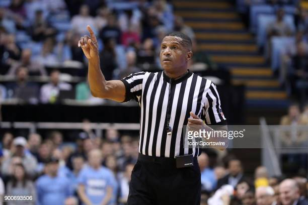 Referee Ted Valentine during the North Carolina Tar Heels game versus the Wofford Terriers on December 20 at Dean E Smith Center in Chapel Hill NC...
