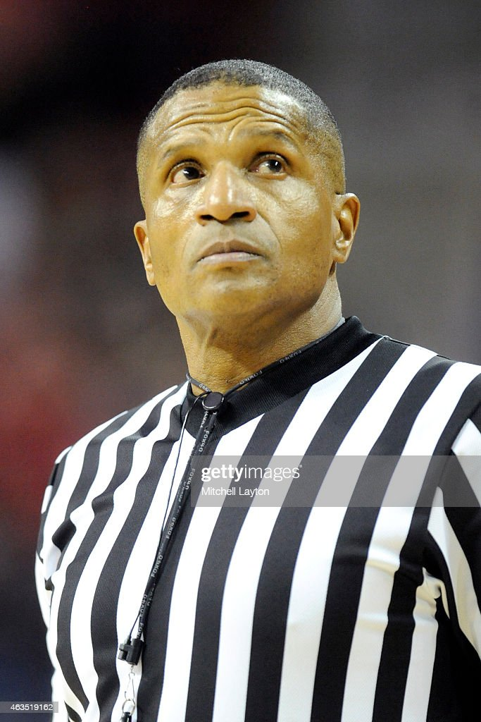 Referee Ted Valentine Looks On During A College Basketball Game Between The  Indiana Hoosiers And The