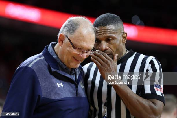 Referee Ted Valentine talks to Notre Dame trainer Skip Meyer The North Carolina State Wolfpack hosted the University of Notre Dame Fighting Irish on...