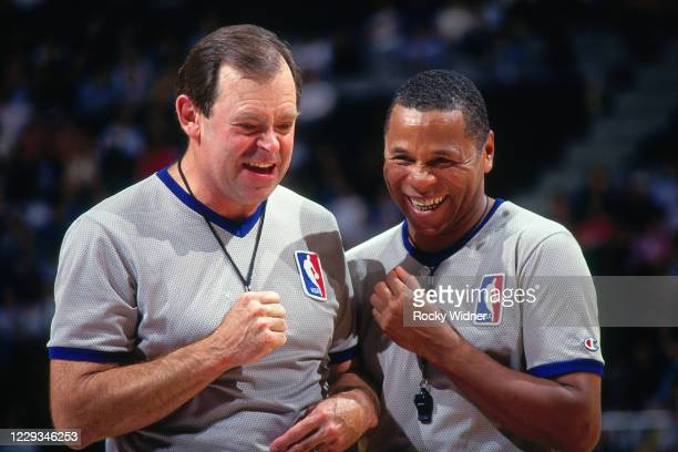 NBA referee Terry Durham smiles during a game at Arco Arena in Sacramento California NOTE TO USER User expressly acknowledges and agrees that by...
