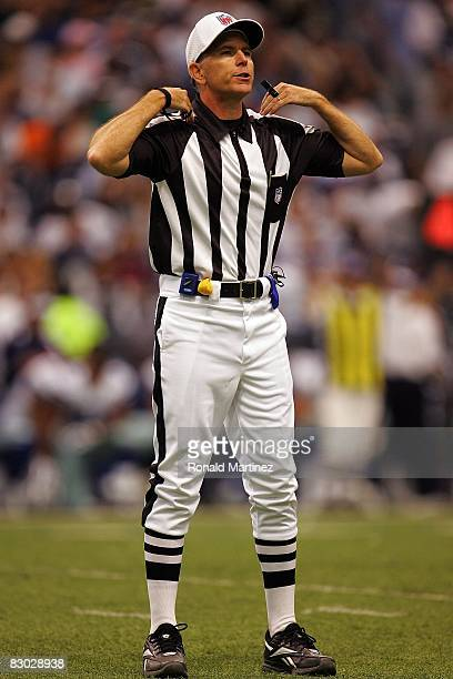 Referee Terry McAulay during play against the Philadelphia Eagles and the Dallas Cowboys at Texas Stadium on September 15 2008 in Irving Texas