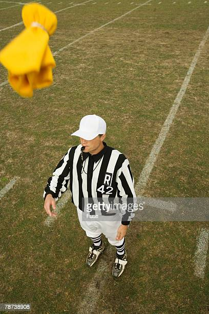 Referee Throwing Penalty Flag