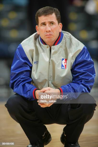 Referee Tim Donaghy looks on before the Golden State Warriors game against the Phoenix Suns at The Arena in Oakland on December 7, 2005 in Oakland,...