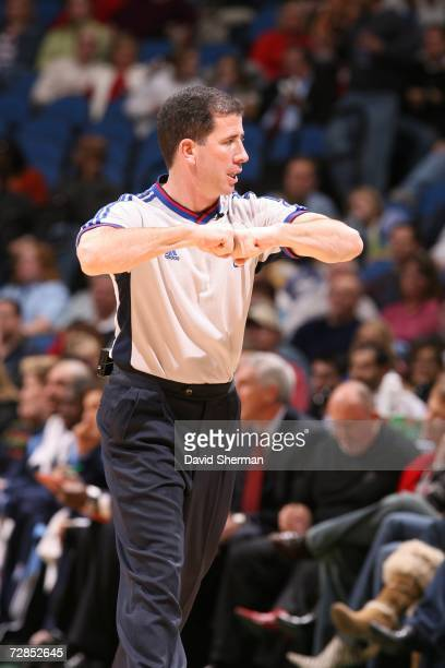Referee Tim Donaghy makes a call during the game between the Minnesota Timberwolves and the Utah Jazz on December 8, 2006 at the Target Center in...