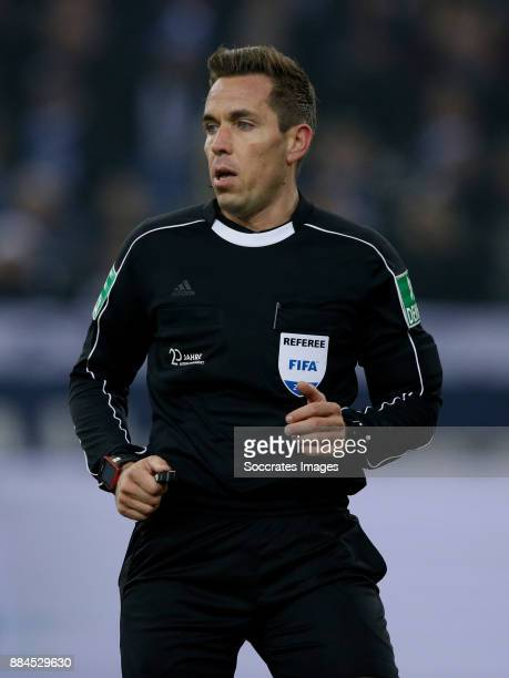 referee Tobias Stieler during the German Bundesliga match between Schalke 04 v 1 FC Koln at the Veltins Arena on December 2 2017 in Gelsenkirchen...