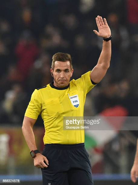 Referee Tobias Stieler during the UEFA Champions League group C match between AS Roma and Qarabag FK at Stadio Olimpico on December 5 2017 in Rome...