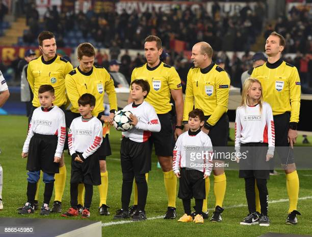 Referee Tobias Stieler prior the UEFA Champions League group C match between AS Roma and Qarabag FK at Stadio Olimpico on December 5 2017 in Rome...