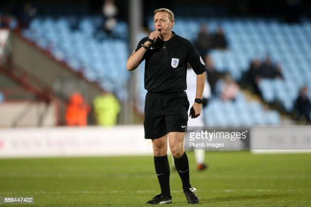 Referee Trevor Kettle during the Checkatrade Trophy tie between Scunthorpe United and Leicester City at Glanford Park on December 5th 2017 in...