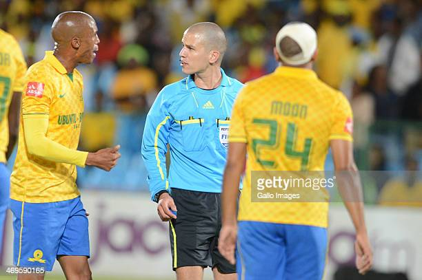 Referee Victor Gomes during the Absa Premiership match between Mamelodi Sundowns and Ajax Cape Town at Loftus Stadium on February 15 2014 in Pretoria...