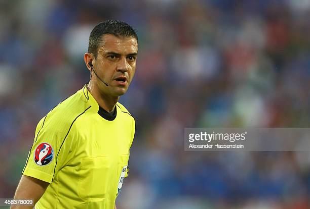 Referee Viktor Kassai is seen during the UEFA EURO 2016 quarter final match between Germany and Italy at Stade Matmut Atlantique on July 2 2016 in...