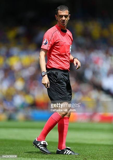 Referee Viktor Kassal during the UEFA EURO 2016 Group E match between Italy and Sweden at Stadium Municipal on June 17 2016 in Toulouse France