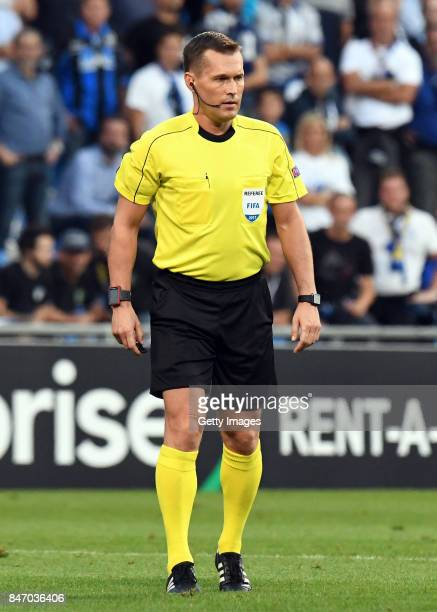 referee Vladislav Bezborodov during the UEFA Europa League group E match between Atalanta and Everton FC at Stadio Citta del Tricolore on September...