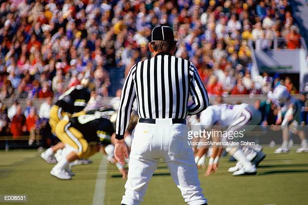 referee watching football game - american football referee stock pictures, royalty-free photos & images