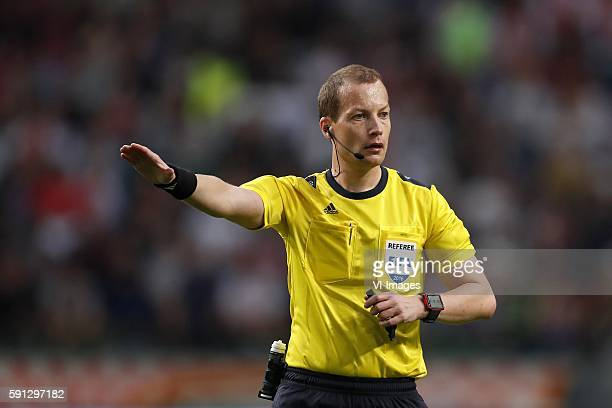 Referee William Collum during the Champions League play-off match between Ajax and FK Rostov at the Amsterdam Arena on august 16, 2016 in Amsterdam,...
