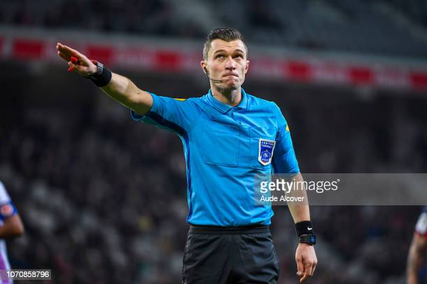 Referee Willy Delajod during the Ligue 1 match between Lille and Reims at Stade Pierre Mauroy on December 9 2018 in Lille France