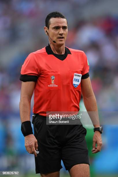 Referee Wilmar Roldan looks on during the 2018 FIFA World Cup Russia group A match between Saudia Arabia and Egypt at Volgograd Arena on June 25 2018...