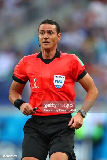 Referee Wilmar Roldan looks on during the 2018 FIFA World Cup Russia group A match between Saudi Arabia and Egypt at Volgograd Arena on June 25 2018...
