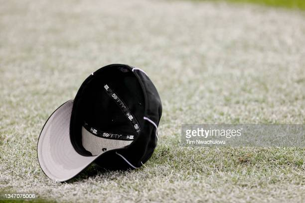 Referee's hat is seen on the field during a game between the Philadelphia Eagles and the Tampa Bay Buccaneers at Lincoln Financial Field on October...