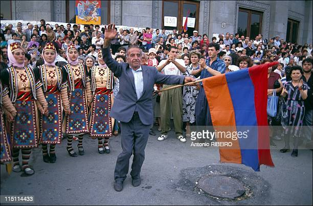 Referendum for Armenia independence in Russia on September 21 1991