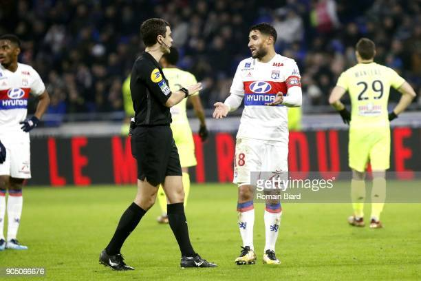 Referer Frank Schneider and Nabil Fekir of Lyon Photo by Romain Biard / Icon Sport