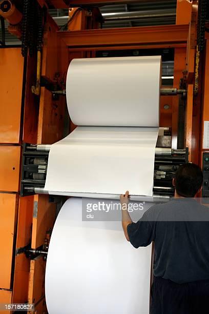 Refilling huge paper roll