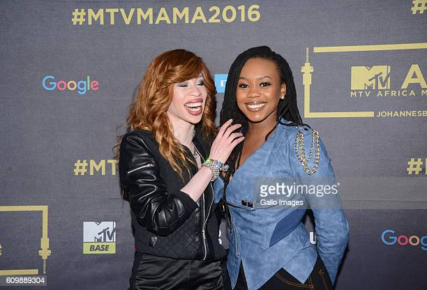 Refilwe and Bontle Modiselle during the MTV Africa Music Awards 2016 Nominations at the Constitutional Hill Braamfontein on September 21 2016 This is...