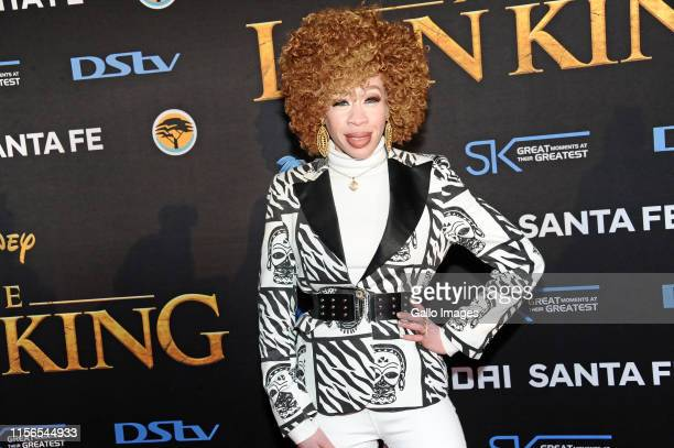 Refilwe Modiselle during the official South African Premiere of Disney's The Lion King at the Johannesburg Country Club on July 18 2019 in...
