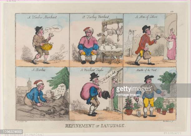 Refinement of Language, October 1, 1802. Artist Thomas Rowlandson.