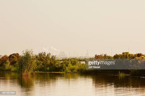 A refinery and wetlands are photographed for New York Times Magazine on August 31 2014 near Myrtle Grove Louisiana COVER IMAGE