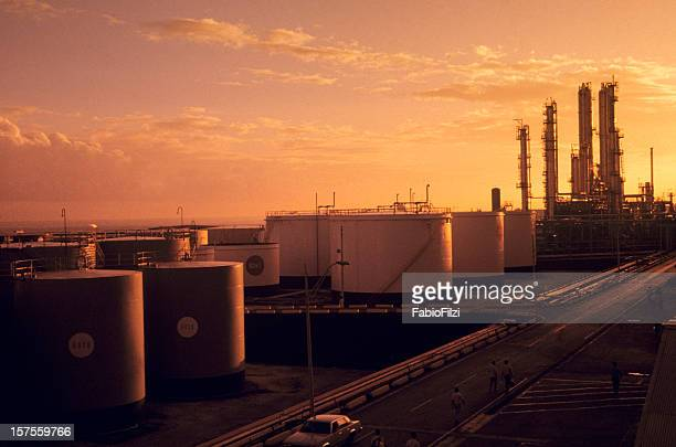 refinery at sunset - fabio filzi stock photos and pictures