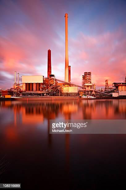 Refinery Daytime Long Exposure