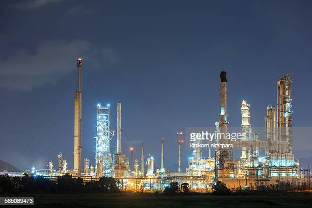 Refinery during twilight time
