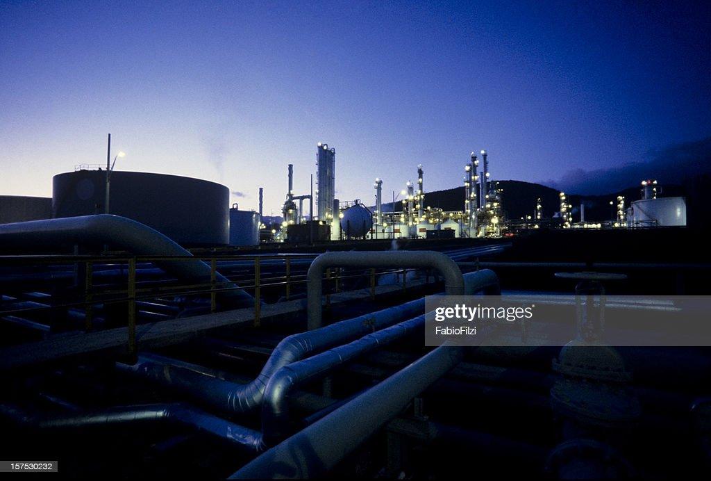 refinery nightshot : Stock Photo