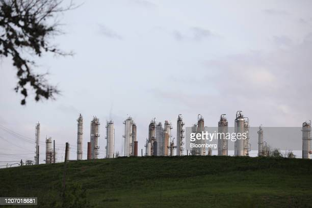 Refinery stands next to Charles H. Milby Park in Houston, Texas, U.S., on Sunday, March 8, 2020. Houston has been purposefully going green for more...