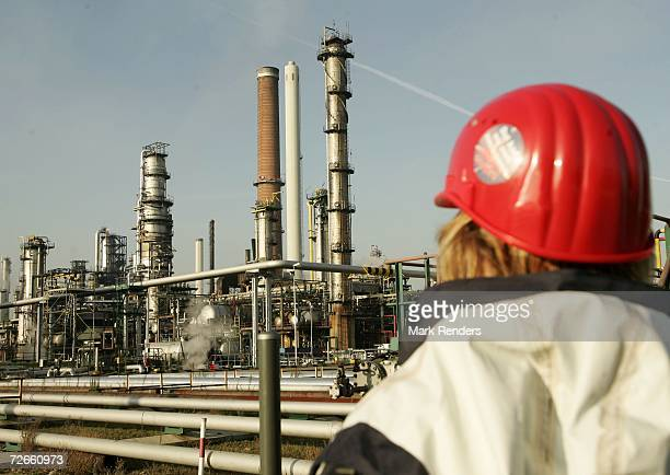 A refinery unit at the Total Refinery on November 23 2006 in Antwerp Belgium Total Refinery Antwerp the second largest refinery in Europe is the...