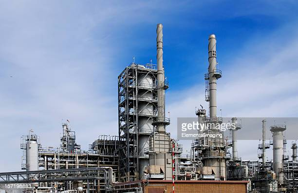 Refinery with Blue Sky